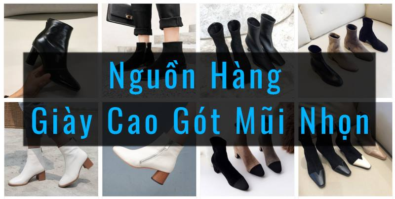tổng hợp nguồn hàng giày cao gót mũi nhọn 7cm đế vuông