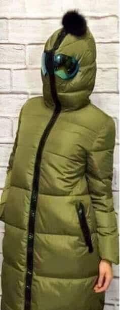 áo phao người ngoài hành tinh xanh rêu