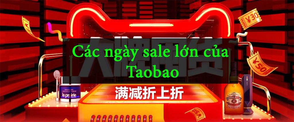 các ngày sale off lớn trên taobao