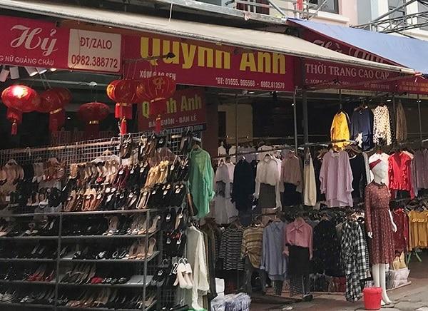shop bán quần áo quản châu tại chợ ninh hiệp