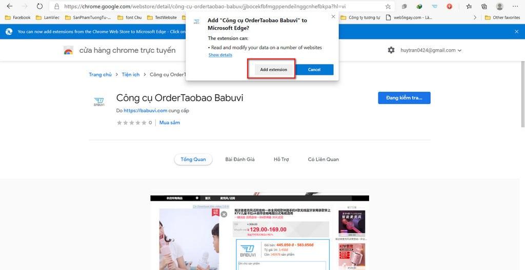 cài đặt extension order taobao babuvi bước 2
