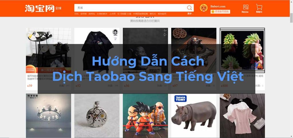 hướng dẫn cách dịch taobao sang tiếng việt
