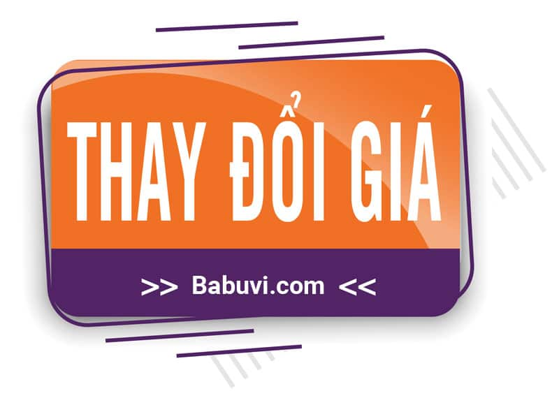 Thông báo thay đổi bảng giá babuvi
