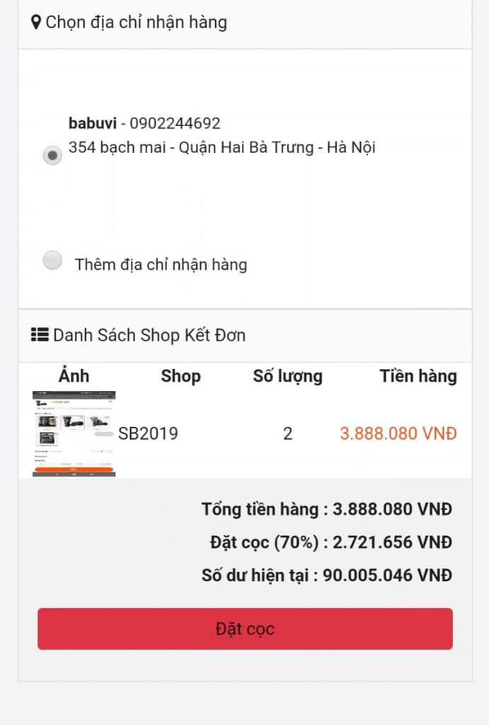 Cách mua hàng trên taobao bằng điện thoại - chốt đơn hàng cần mua