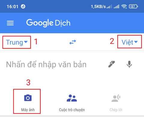 cách sử dụng taobao bằng tiếng việt trên điện thoại - app google dich