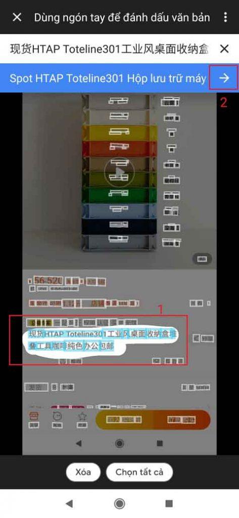 taobao dịch tiếng việt trên điện thoại