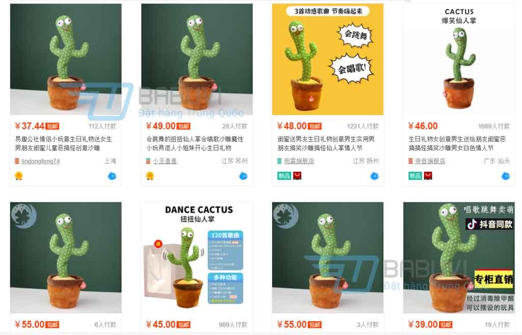kết quả tìm kiếm bằng hình ảnh trên Taobao