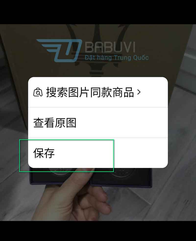 cách tải ảnh trên taobao về điện thoại android
