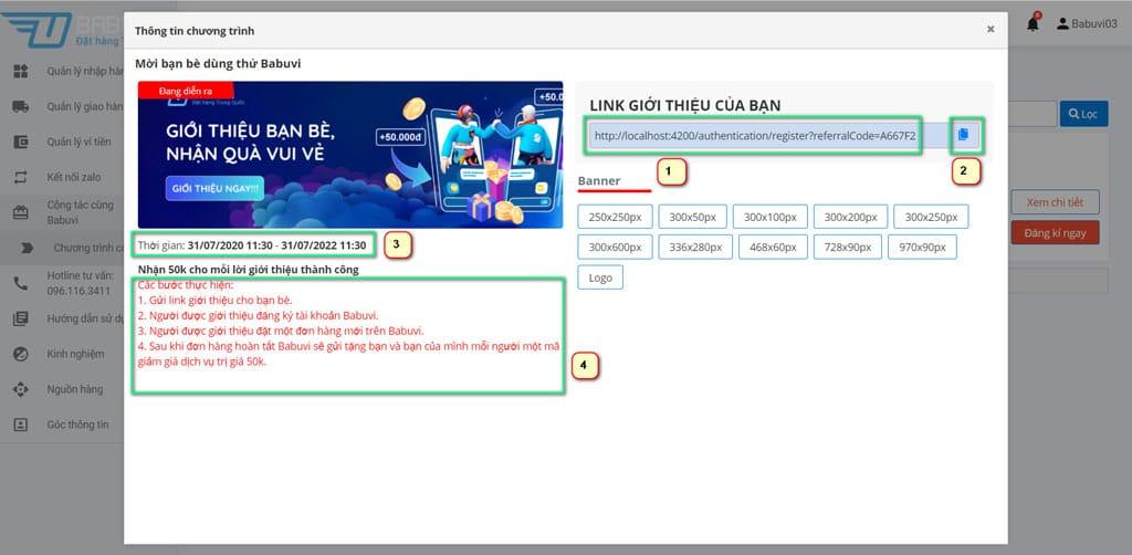 chi tiết chương trình Babuvi affiliate